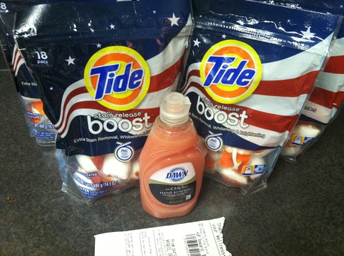 For 5 Of The Tide Stain Release Boost Pods And 1 Dawn Dish Soap I Ascribe 0 19 To A Great Price That Makes Each