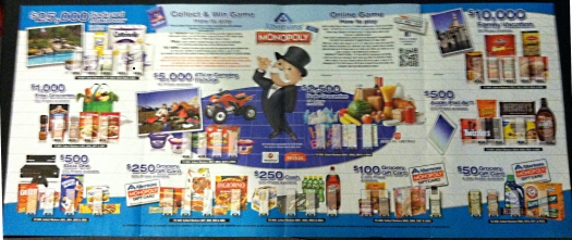 albertsons monopoly game board free
