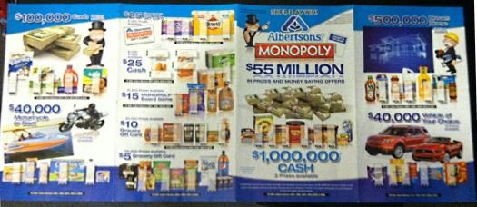 Albertsons Monopoly Promotion Starting Feb 4th Thru May