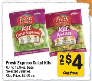 FREE Fresh Express Salad Kits - TODAY ONLY @ Safeway
