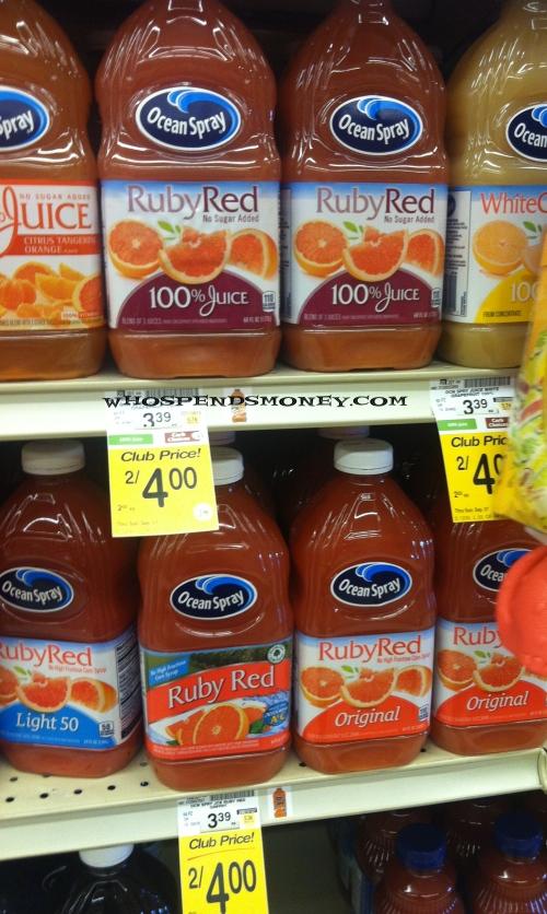 $1 Ocean Spray Grapefruit Juice @ Safeway