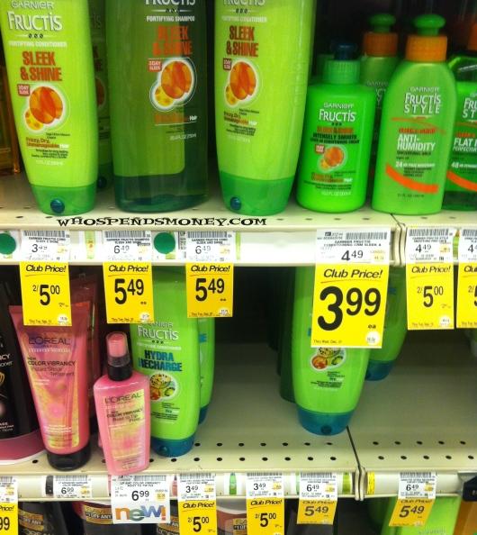 FREE Garnier Fructis Shampoo/Conditioner/Styler @ Safeway
