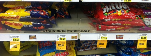$1 Starburst or Skittles Lay Down Bags @ Fred Meyer