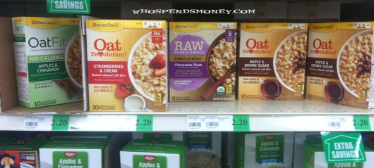 $1.20 Better Oats 10-12 Packs @ Winco