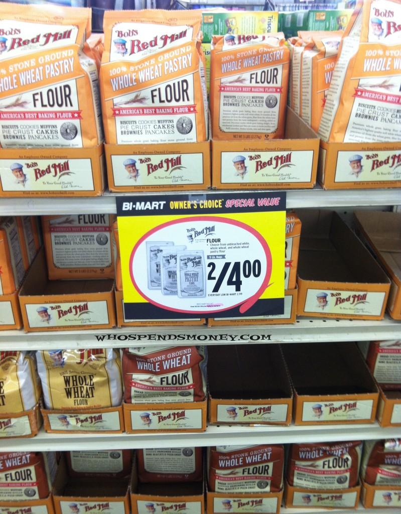 $0.50 5lb Bobs Red Mill Flour@ Bi-Mart