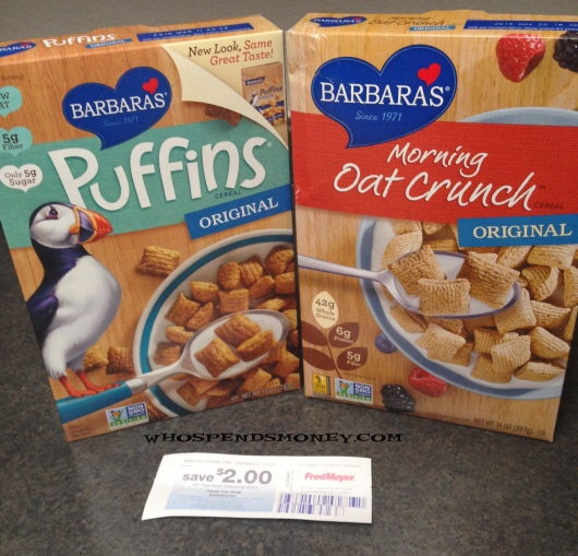 $0.49 Each Barbara's Cereal @ Fred Meyer