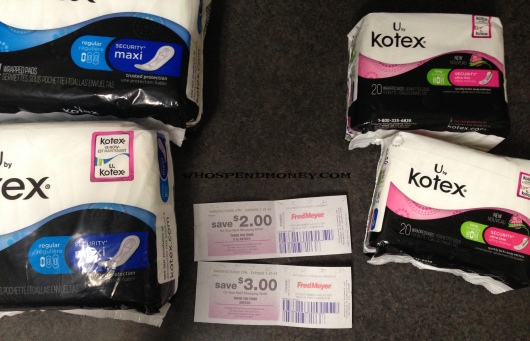 Better than Free U by Kotex @ Fred Meyer
