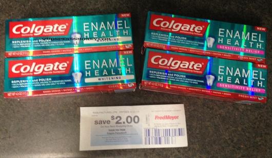 FREE Colgate Enamel Health 4oz Toothpaste @ Fred Meyer