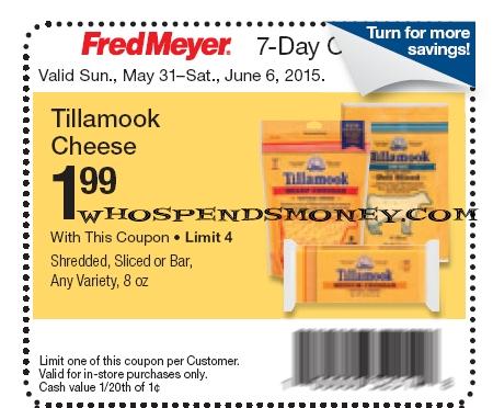 $0.99 Tillamook Cheese 8oz(Shred-Sliced-Bar) <span style=