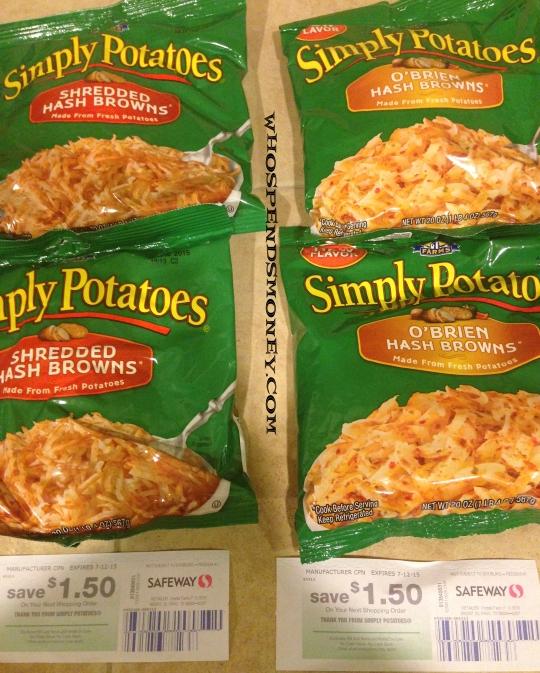 Better than Free Simply Potatoes @ Safeway