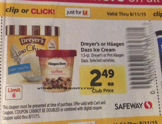 image relating to Haagen Dazs Coupon Printable titled $0.99 Haagen Dazs Ice Product @ Safeway (Commencing 8/5)