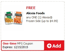 FREE Alexia Frozen Side Product @ Safeway