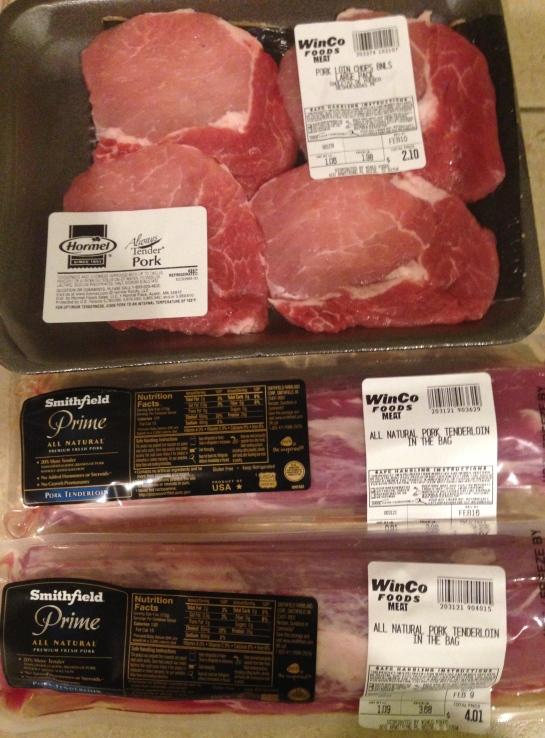 Cheap Super Cheap Fresh Pork Items Winco