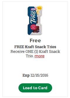 FREE Kraft Snack Trio – LOAD TODAY @ Fred Meyer/QFC