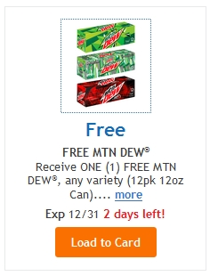 FREE Mountain Dew 12pk @ Fred Meyer/QFC (Ends 12/31/16!!!)