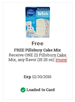FREE Pillsbury Cake Mix – LOAD TODAY @ Fred Meyer/QFC
