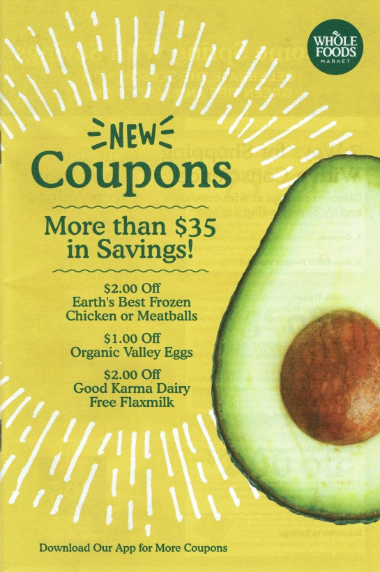 Whole Foods March 2017 'The Whole Deal' Coupon Booklet