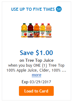 $0.99 Tree Top Honeycrisp 100% Juice @ Fred Meyer