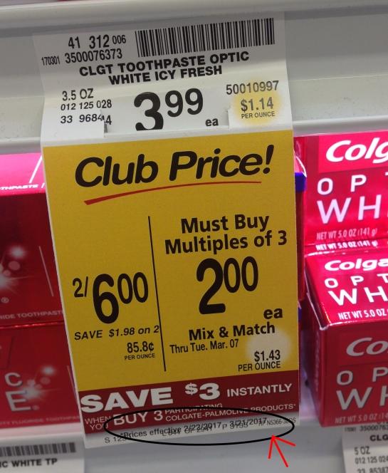 $0.50 Colgate Total or Optic White Toothpaste 5.0oz @ Safeway