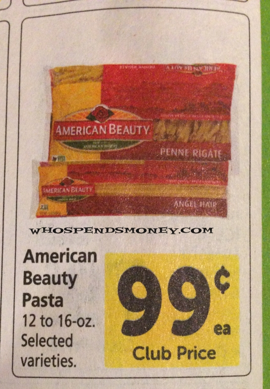 $0.24 American Beauty Pasta @ Safeway {Starting 5/31}