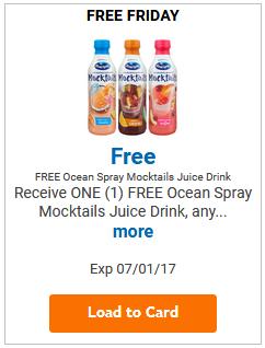 FREE Ocean Spray Mocktail Juice Drink LOAD TODAY @ Fred Meyer/QFC