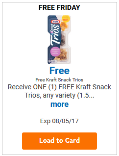FREE Kraft Snack Trio LOAD TODAY @ Fred Meyer/QFC