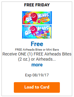 FREE Airheads Bites or Mini Bars LOAD TODAY @ Fred Meyer/QFC