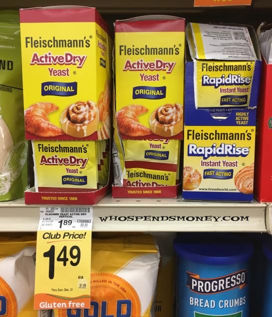 $0.24 Fleischmann's Yeast 3pks @ Safeway