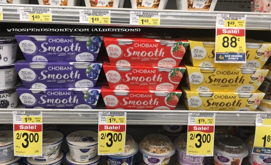 $0.50 Chobani Smooth Yogurt 2pk @ Safeway & Albertsons