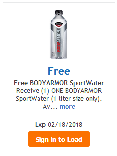 FREE BodyArmor Sportwater 1liter LOAD TODAY @ Fred Meyer/QFC