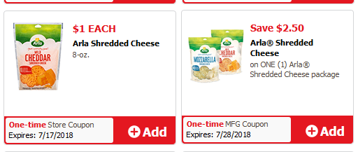 EASY $1.50 Money Maker on Arla Shredded Cheese @ Safeway