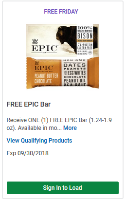FREE Epic Bar LOAD TODAY @ Fred Meyer/QFC
