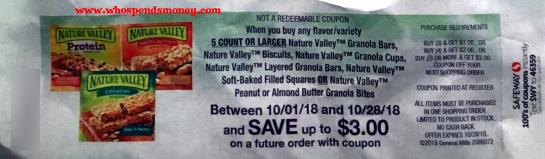 $0.75 Nature Valley Granola Bars @ Safeway {STARTING 10/03/18}